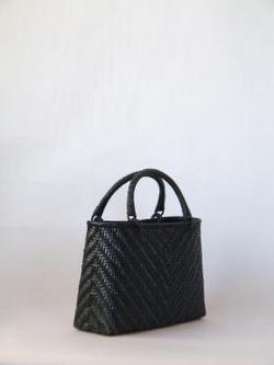 籐製バック(小)黒b