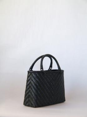 籐製バック 黒(小)b